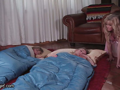 MommysGirl Horny Stepmom Caught Fapping to Step-Teen and BFF