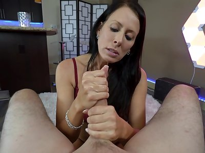 mature brunette Reagan Foxx craving for hard penis in her mouth