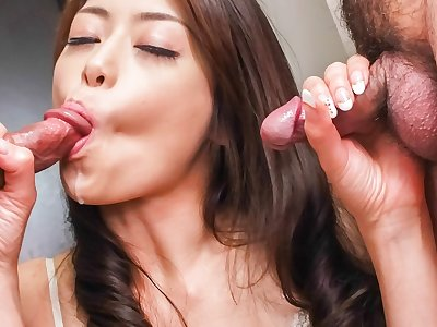 Fabulous Japanese chick Maki Hojo in Incredible JAV uncensored MILFs video