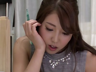 Horny Japanese slut in Hottest Massage, Lesbian JAV video