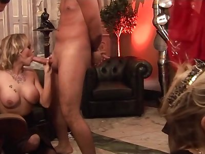 Humping unassisted ballooned sluts - group dealings video