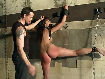 Submissive babe endures pretty rough anal making love