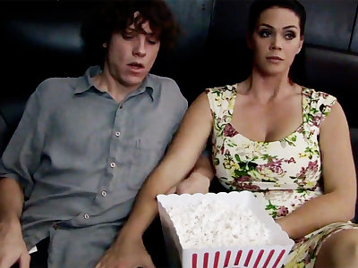 Horny milf touch shy stepson's learn of nigh cinema