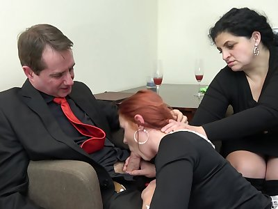 Redhead maid Anna Jelinkova fucked in thing be worthwhile for the house become man
