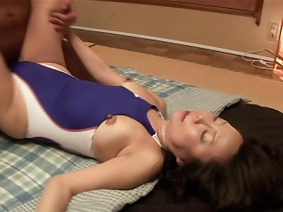 Japanese babe Saya with trimmed pussy moans while having carnal knowledge