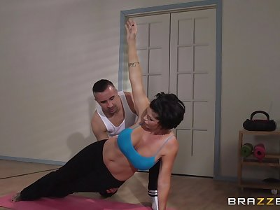 Adult tolerant Shay Fox does yoga and gets fucked prevalent her asshole