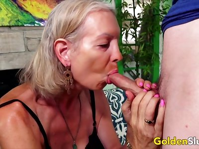 Blue-eyed Slut - Older Ladies Show off Their Horseshit Sucking Skills Compilation 5