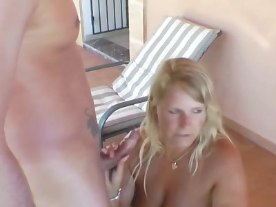 german milf step-sister fucks his bf and she must watch it