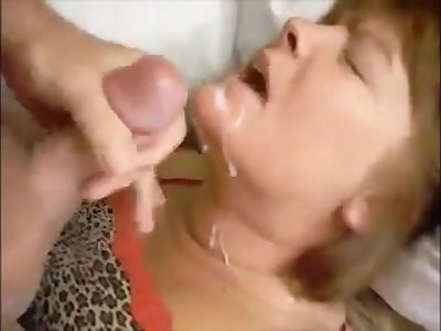 Face fucked adult wife sucking slowly young dick and drink cum